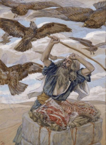 Order Paintings Reproductions Impressionism | Abraham Guarding His Sacrifice by James Jacques Joseph Tissot | TopImpressionists.com