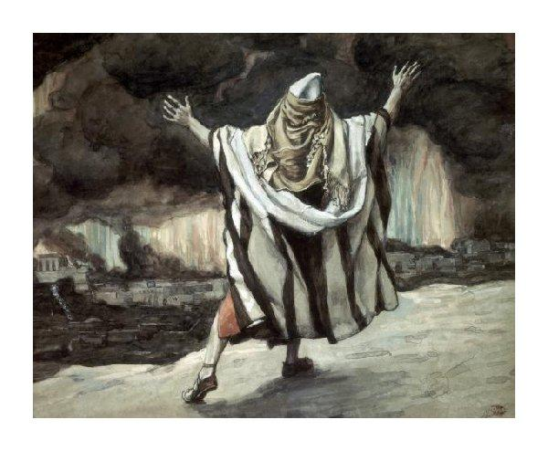 famous painting Abraham Sees Sodom in Flames of James Jacques Joseph Tissot