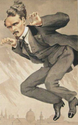 famous painting Men of the Day No.4, The mob rule (Henri Rochefort) of James Jacques Joseph Tissot