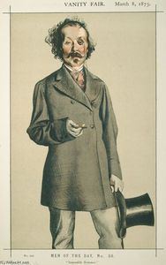 James Jacques Joseph Tissot - Men of the Day No.580 Caricature of Mr.Thomas Mayne Reid