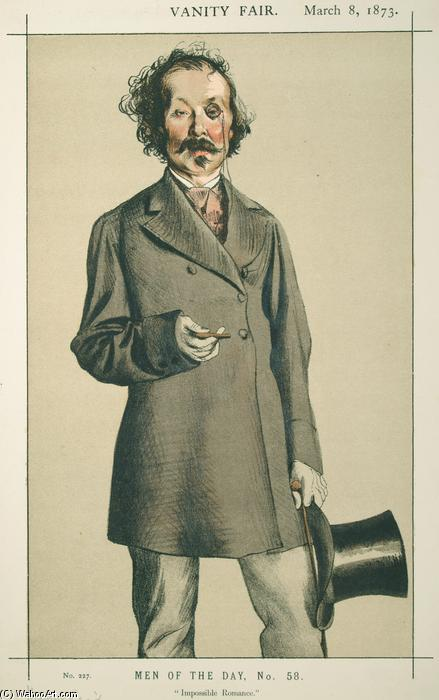 famous painting Men of the Day No.580 Caricature of Mr.Thomas Mayne Reid of James Jacques Joseph Tissot