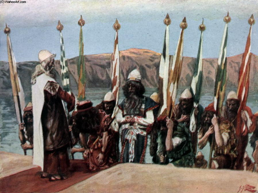 famous painting Moses Blesses Joshua Before the High Priest of James Jacques Joseph Tissot