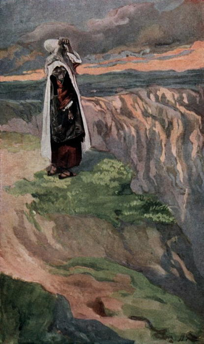 famous painting Moses Sees the Promised Land from Afar of James Jacques Joseph Tissot