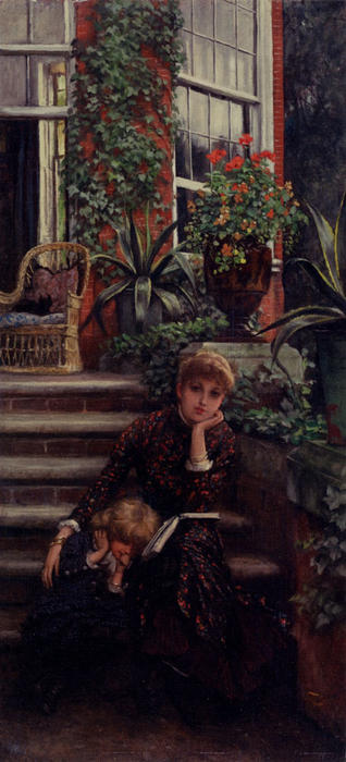 famous painting Older Sister of James Jacques Joseph Tissot