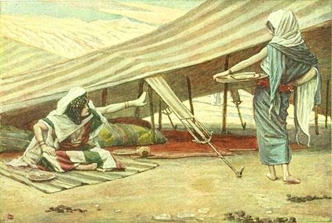 famous painting Sarai Sends Hagar Away of James Jacques Joseph Tissot