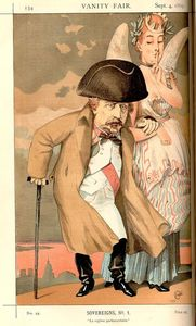James Jacques Joseph Tissot - Sovereigns No.10 Caricature of Napoleon III