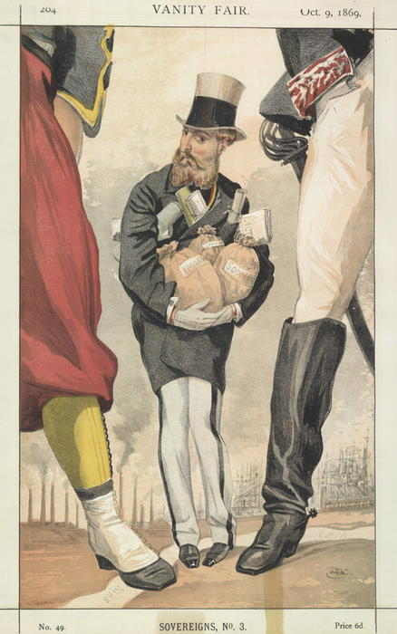 famous painting Sovereigns No.30 Caricature of Leopold II of the Belgians of James Jacques Joseph Tissot