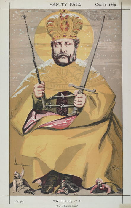 famous painting Sovereigns No.40 Caricature of Alexander II of Russia of James Jacques Joseph Tissot