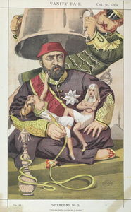 James Jacques Joseph Tissot - Sovereigns No.50 Caricature of Sultan Abdul Aziz of Turkey