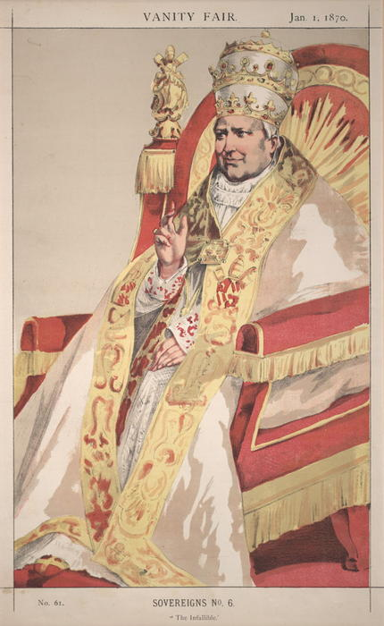 famous painting Sovereigns No.60 Caricature of Pope Pius IX of James Jacques Joseph Tissot