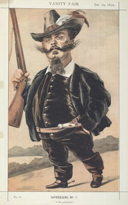 James Jacques Joseph Tissot - Sovereigns No.70 Caricature of M Victor Emmanuel II of Italy