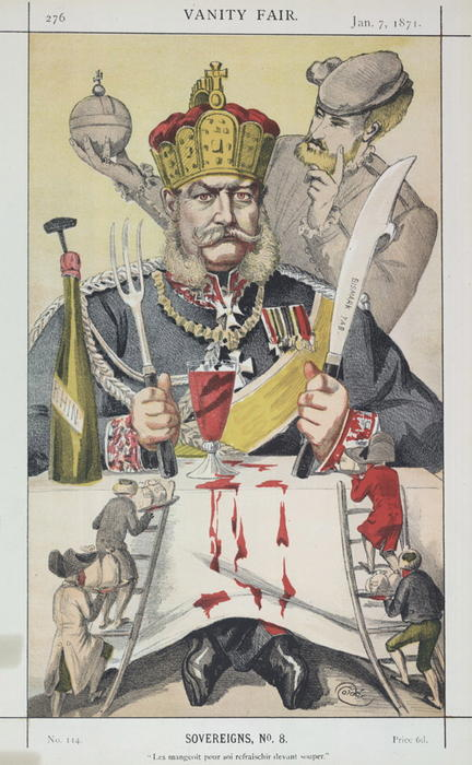 famous painting Sovereigns No.80 Caricature of The King of Prussi of James Jacques Joseph Tissot