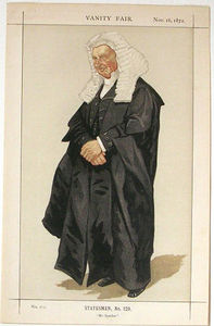 James Jacques Joseph Tissot - Statesmen No.1290 Caricature of The Rt Hon HBW Brand M.P.