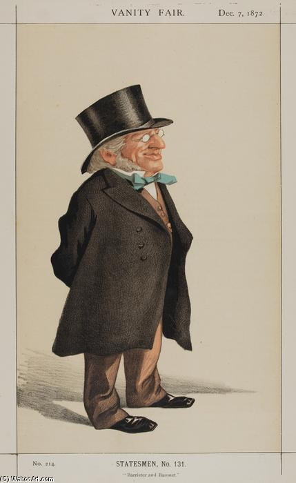 famous painting Statesmen No.1310 Caricature of Sir Francis Goldsmid M.P. of James Jacques Joseph Tissot