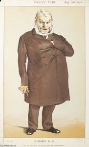 James Jacques Joseph Tissot - Statesmen No.910 Caricature of Mr John Locke M.P.