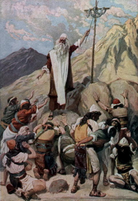 famous painting The Brazen Serpent of James Jacques Joseph Tissot
