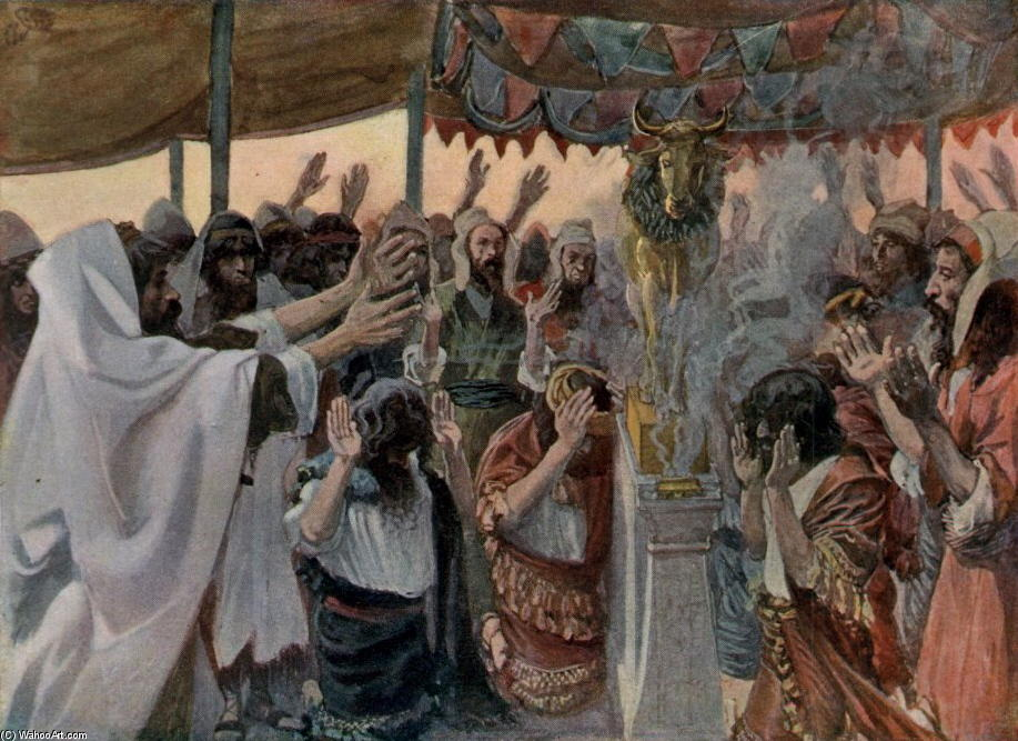 famous painting The Golden Calf, as in Exodus of James Jacques Joseph Tissot