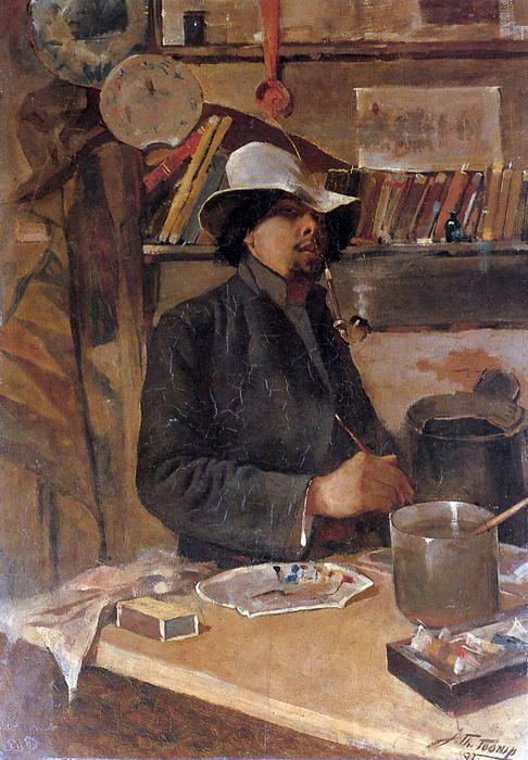 famous painting Self -portrait of Jean Theodoor Toorop