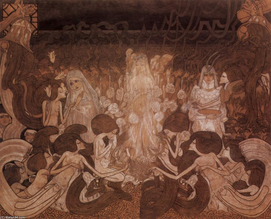 famous painting The Three Fiancees of Jean Theodoor Toorop
