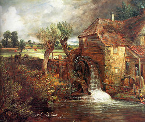 John Constable - A Mill at Gillingham in Dorset