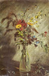 John Constable - Flowers in a glass vase