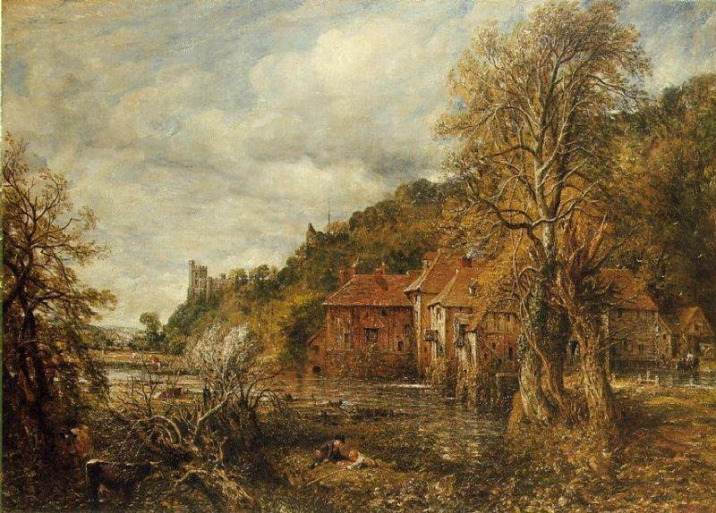 famous painting Arundel Mill and Castle of John Constable