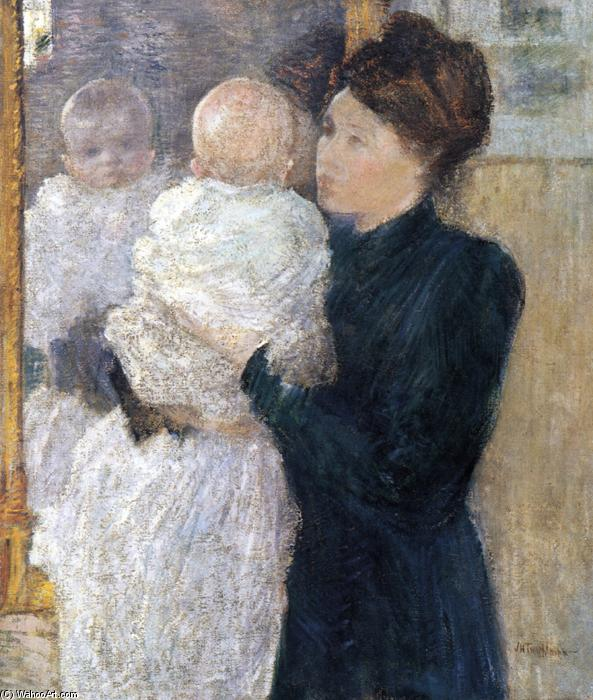 famous painting Mother and Child of John Henry Twachtman