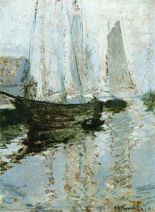 famous painting Boats at Anchor of John Henry Twachtman