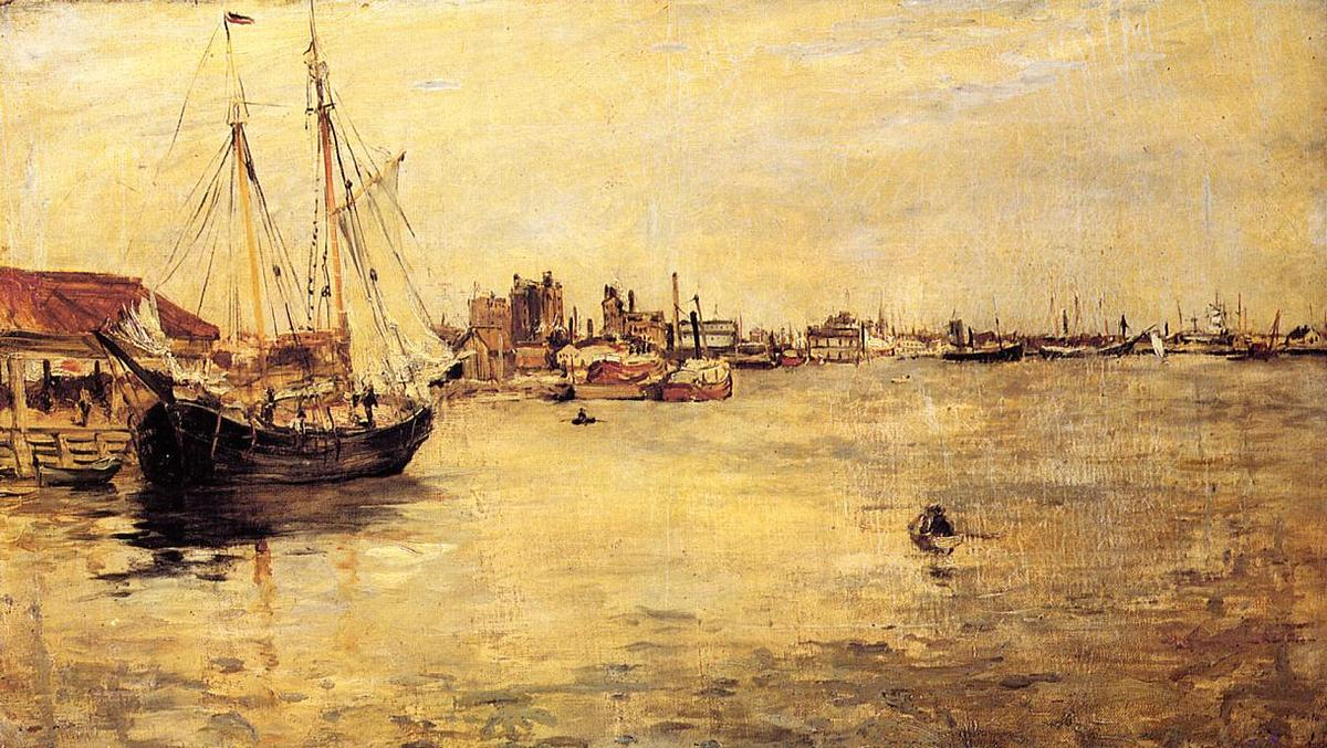 famous painting New York Harbor of John Henry Twachtman