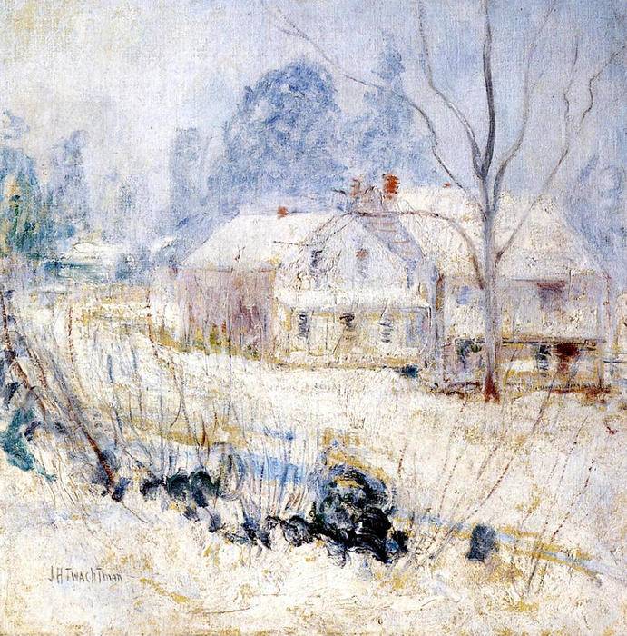 famous painting Country House in Winter of John Henry Twachtman