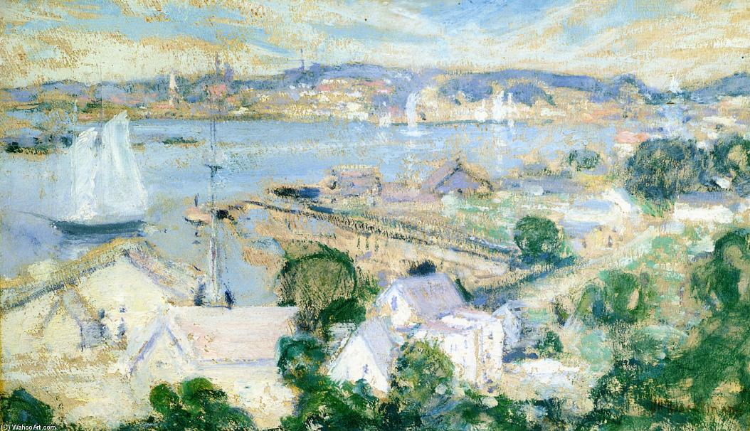 famous painting Gloucester Harbor 2 of John Henry Twachtman