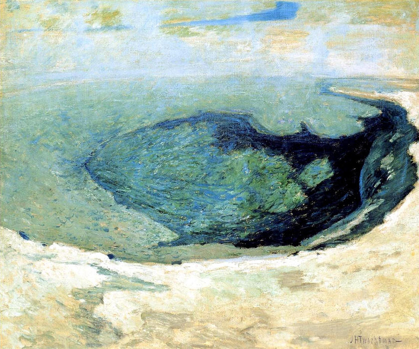 famous painting Emerald Pool 2 of John Henry Twachtman