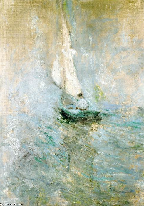 famous painting Sailing in the Mist of John Henry Twachtman
