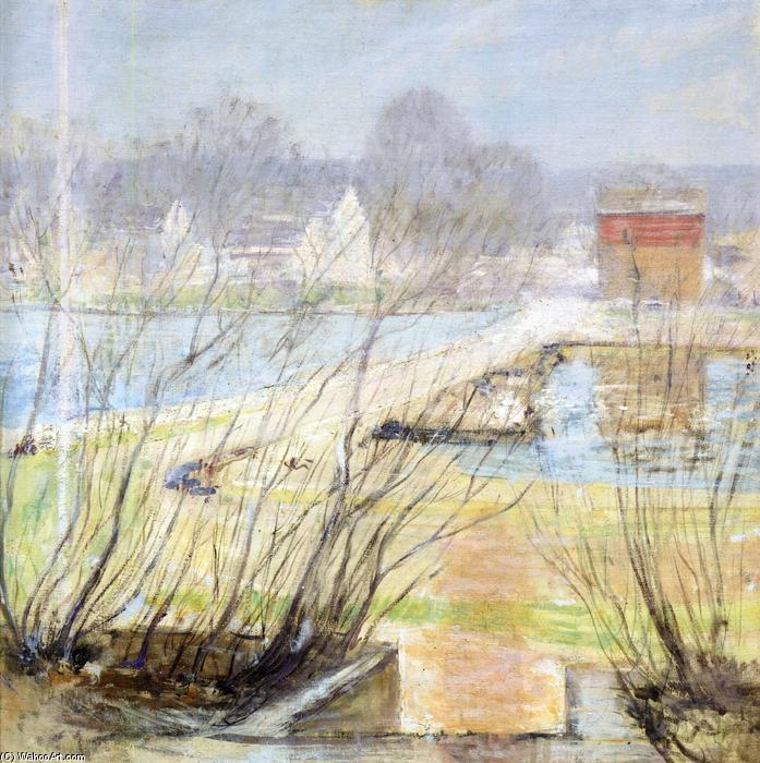 famous painting View from the Holley House of John Henry Twachtman