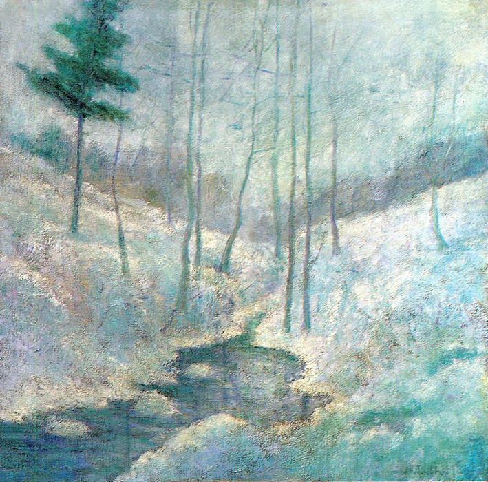famous painting Winter Landscape of John Henry Twachtman