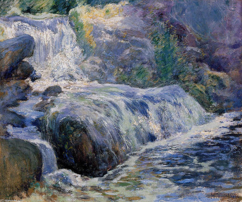 famous painting Waterfall of John Henry Twachtman