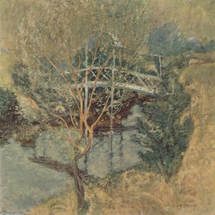 famous painting The White Bridge of John Henry Twachtman
