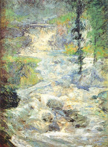 John Henry Twachtman - The Rainbow`s Source