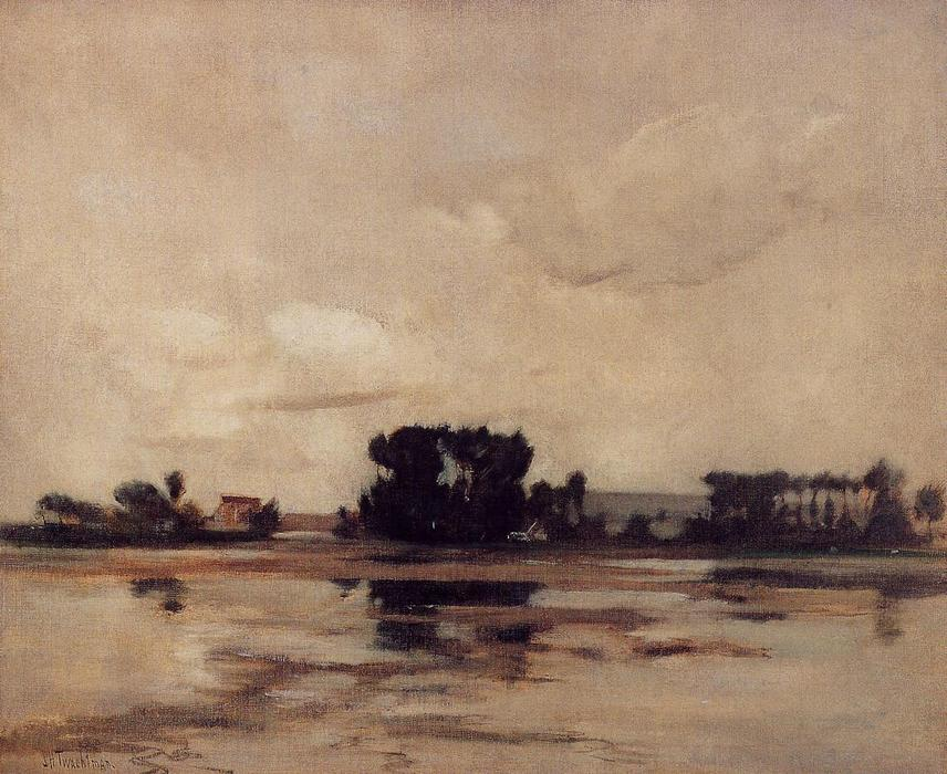 famous painting Etang (also known as The Pond) of John Henry Twachtman