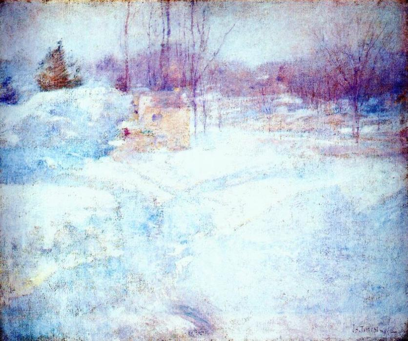 famous painting Winter of John Henry Twachtman