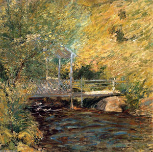 John Henry Twachtman - The Little Bridge