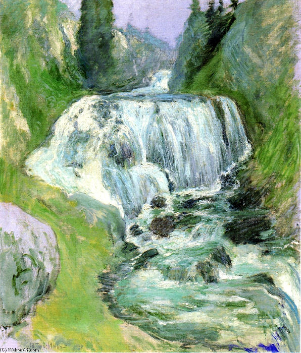 famous painting Cascades Waterfall of John Henry Twachtman
