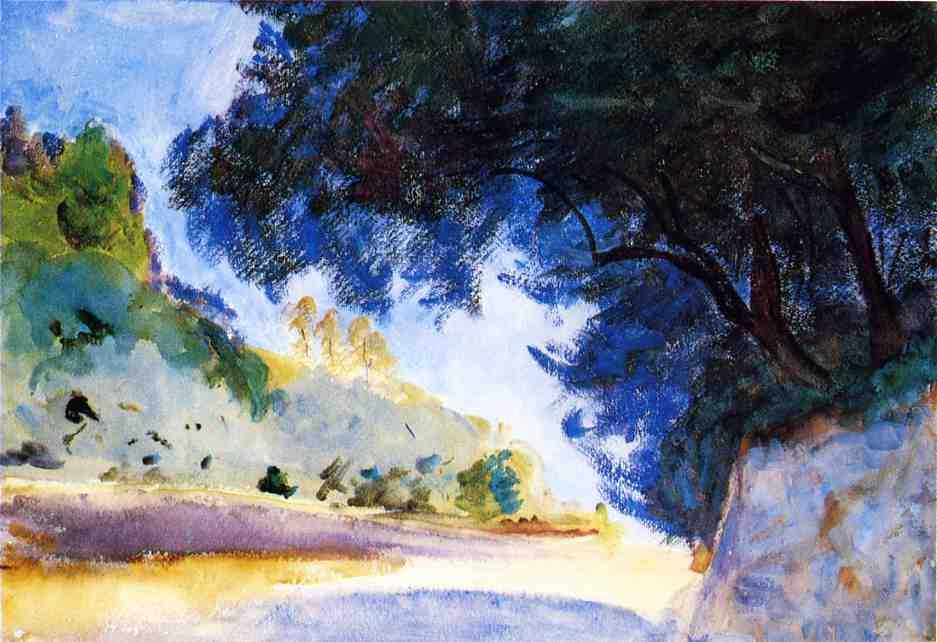 famous painting Landscape, Olive Trees, Corfu of John Singer Sargent