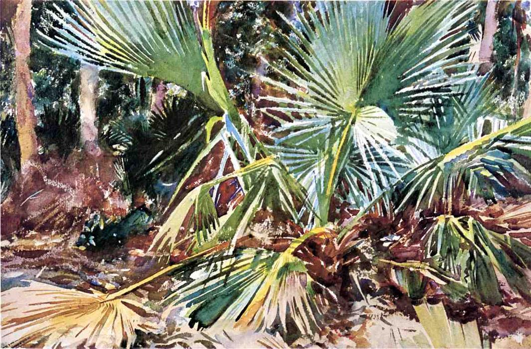 famous painting Palmettos, Florida of John Singer Sargent