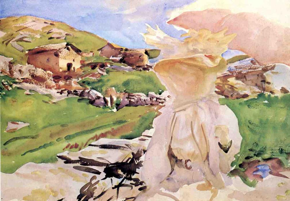 famous painting In the Simplon Pass of John Singer Sargent