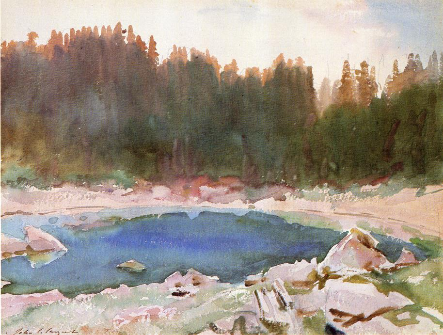 famous painting Lake in the Tyrol of John Singer Sargent