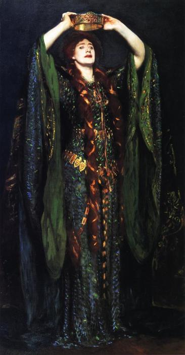 famous painting Ellen Terry as Lady Macbeth of John Singer Sargent