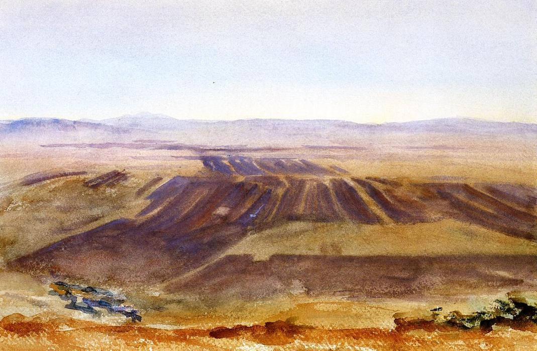 famous painting The Plains from Nazareth of John Singer Sargent