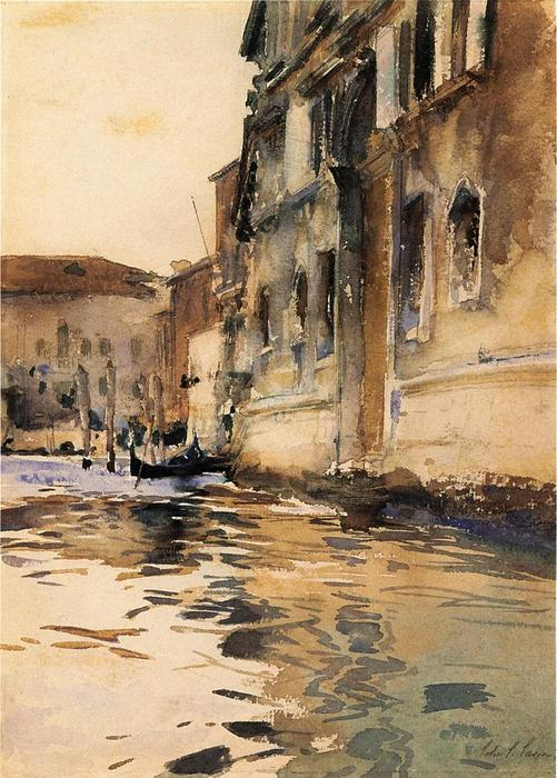 famous painting Venetian Canal, Palazzo Corner of John Singer Sargent