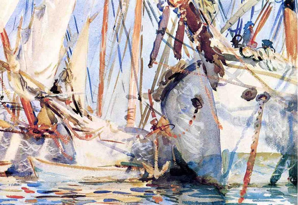 famous painting White Ships of John Singer Sargent